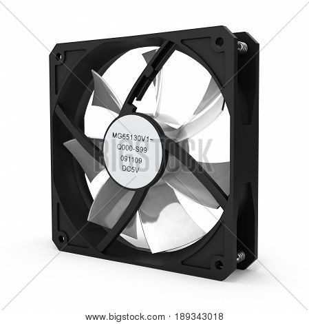 Computer Cooler Isolated On White Background 3D