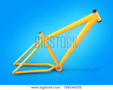 Mtb Frame Isolated On Blue Gradient Background 3D Illustration