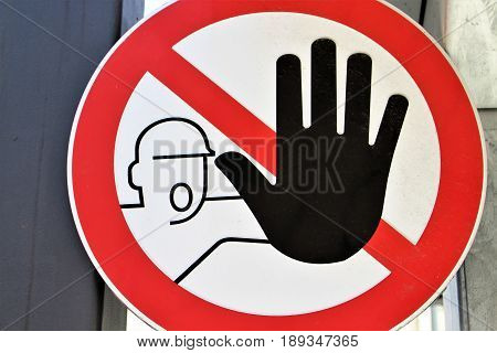 An image of a traffic sign - adblocking
