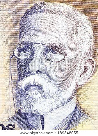Machado de Assis portrait from Brazilian money - Cruzado