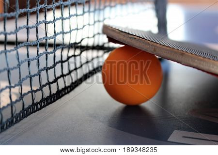An image of a ping pong table