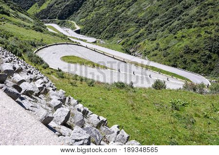 Old Road Which Leads To St. Gotthard Pass