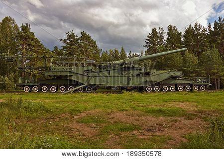 TM-3-12 railroad gun in Krasnaya Gorka fort