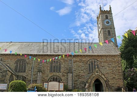 Falmouth Parish Church of King Charles the Martyr in Cornwall