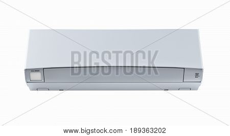 Air Conditioner Front View Without Shadow On White Wall 3D
