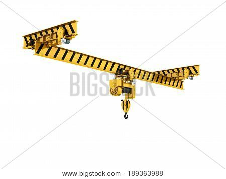 Overhead Crane Isolated On White Background 3D