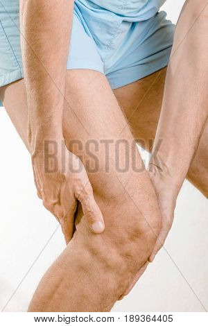 Athlete Man Feeling Pain To The Knee