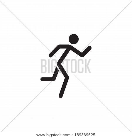 Running man solid icon, fast and fitness sport, vector graphics, a filled pattern on a white background, eps 10.
