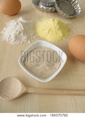 Ground psyllium seed husks and other gluten free baking ingredients