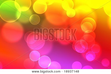 Bokeh effect, color background