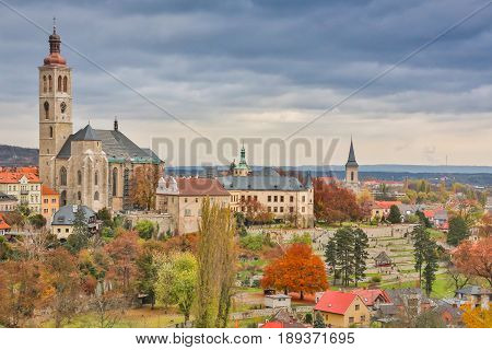 Church of the Moselle village Ernst on a dull autumnal day, Germany, Europe.