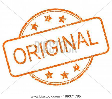 orange Original rubber stamp on white background - illustration