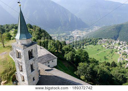 Church Of Santa Maria In Calanca Valley
