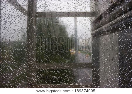 Broken Glass Abstract Background