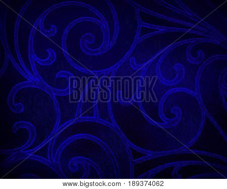 Abstract floral background in blue tones. blue pattern.