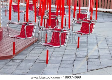 Red Seats Of A Carousel