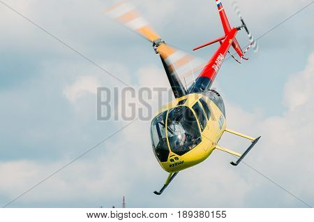 Helicopter Robinson, Russia, Tyumen August 2014.