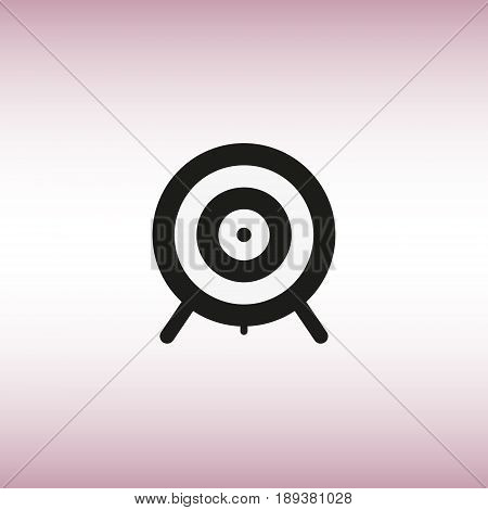 Aim isolated vector sign. Aim vector flat icon. Target vector illustration.