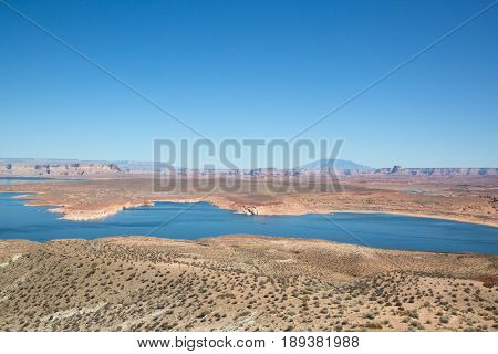 Famous Lake Powell (Glenn canyon) near Page, Arizona