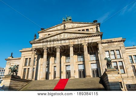 The concert hall at the Gendarmenmarkt in Berlin, Germany