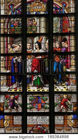 Stained Glass - Margaret Of York
