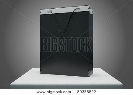 Empty Black Shopping Bag
