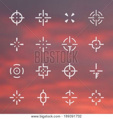 crosshairs set, different sights, elements for interfaces and game design