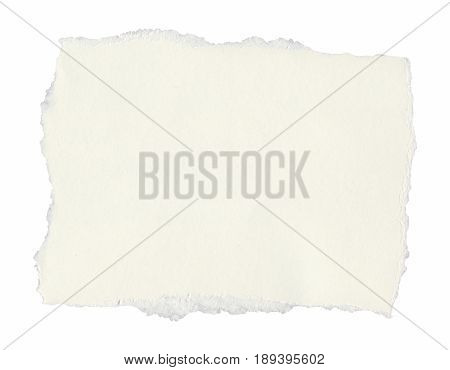 Blank Tag Label Parchment Isolated Over White