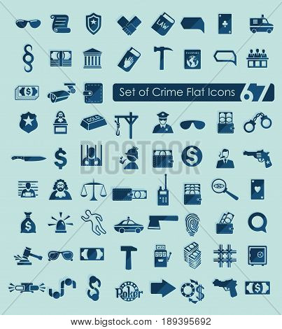 It is a Set of crime icons