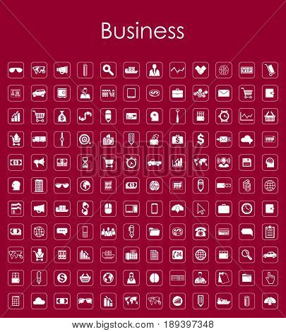 It is a Set of business simple icons