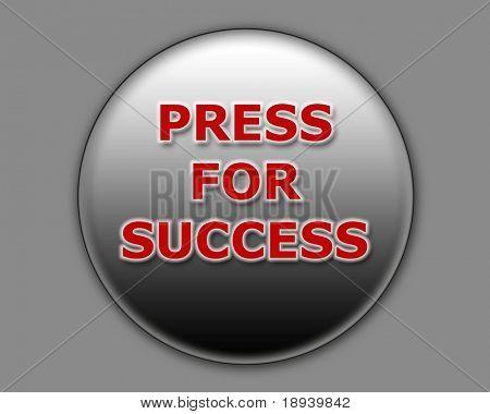 Illustration of a button for successful achievement