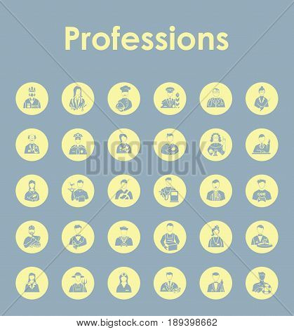 It is a Set of professions simple icons