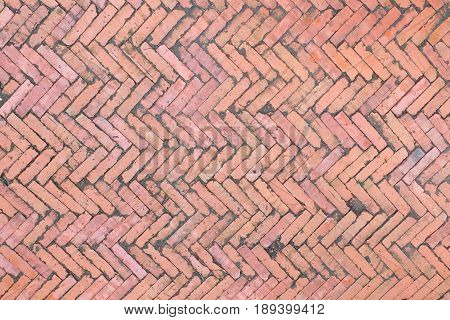 Brown Bricks Pavement Pattern For Background, Natural Texture