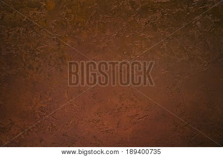 Grunge background from sheet metal of copper