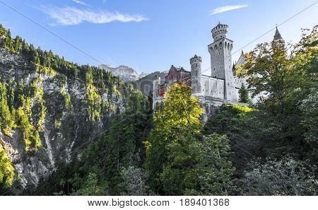 another view on Neuschwanstein castle. Bavaria, Germany