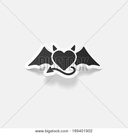 It is a realistic design element heart devil