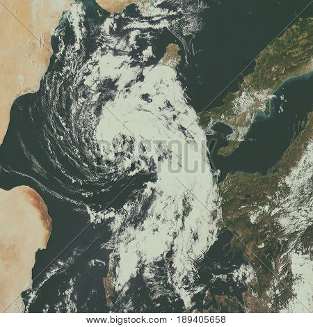 Cyclonic Storm In The Mediterranean