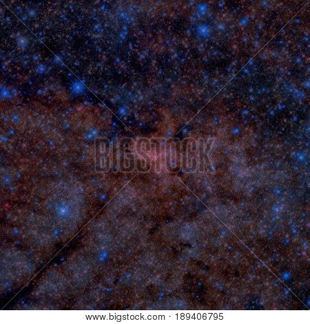 The Galactic Centre Of The Milky Way. Infrared Image.