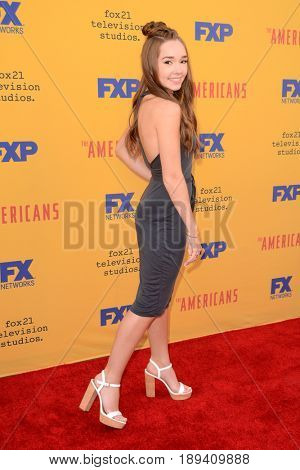 LOS ANGELES - JUN 1:  Holly Taylor at the FX's