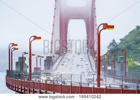 Golden Gate Bridge San Francisco in the fog - CALIFORNIA