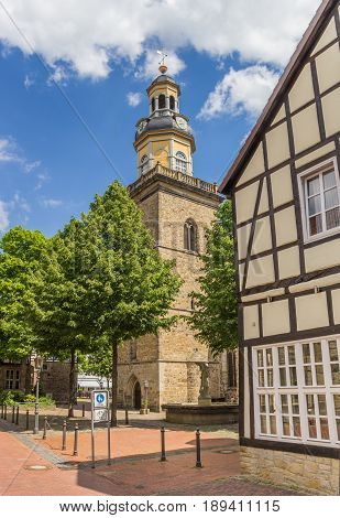 Tower Of The St. Nicolai Church In Rinteln