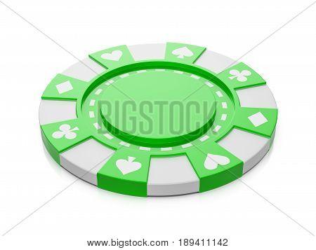 Casino Chip 3D Illustration
