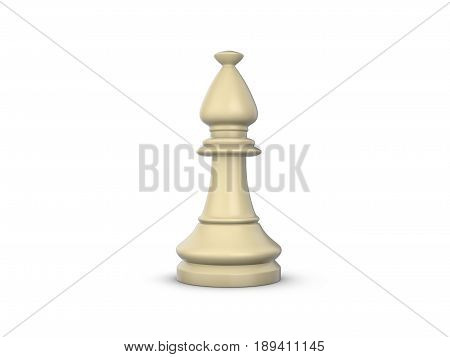 Chess Bishop 3D Illustration