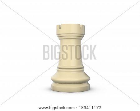 Chess Rook 3D Illustration