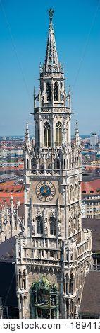Munich, Germany - June 7, 2016: New Town Hall at Marienplatz Square. Munich. Bavaria. Germany.