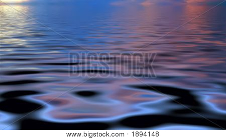 Abstract Picture Of A Suset On A Lake