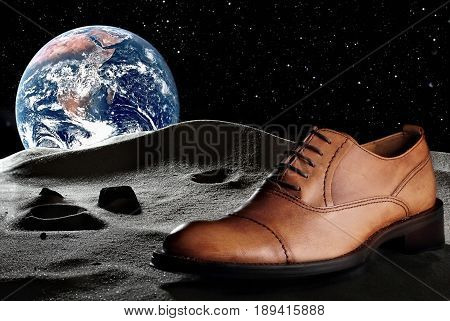 Fashion Classical Polished Men's Colour Of Sand Oxford.creative Photo. Concept Advertising Of Shoes