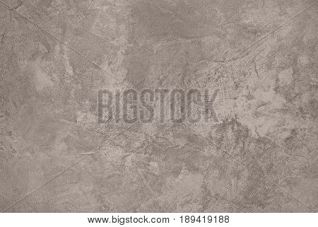 Taupe Abstract Grungy Decorative Texture. Rough Old Stucco Wall Vintage style Background. Handmade Sepia Beige Paper With Copy Space