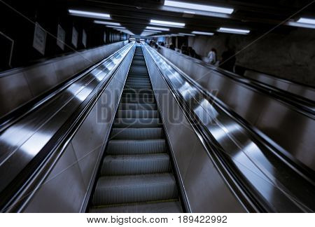 People in Stockholm underground metro station Sweden Scandinavia Europe