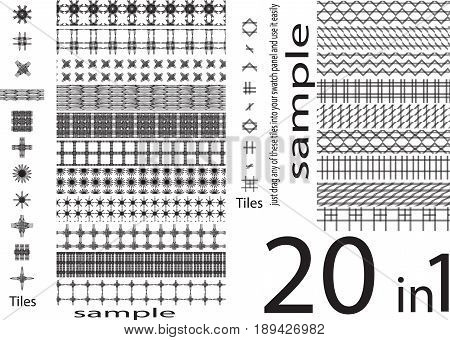 seamless patterns of different unique shapes set of unique and different seamless patterns mega pack bundle all in one plz listen be carefully most of pattern used in this set are monochrome that are applied on a gradient or color shape that is beneath th